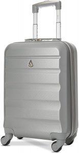 Aerolite ABS Bagage Cabine Bagage à Main Valise Rigide Légere à 4 roulettes, pour Ryanair, Easyjet, Air France, Lufthansa, Jet2